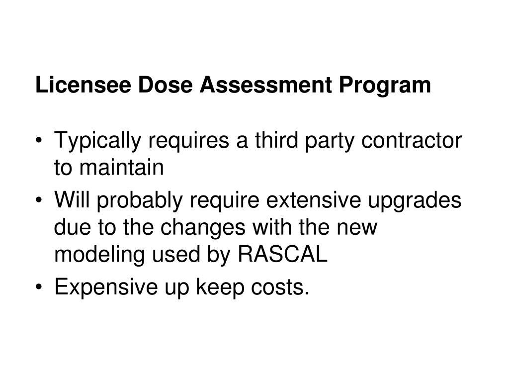 Licensee Dose Assessment Program