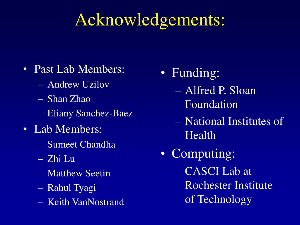 Acknowledgements: