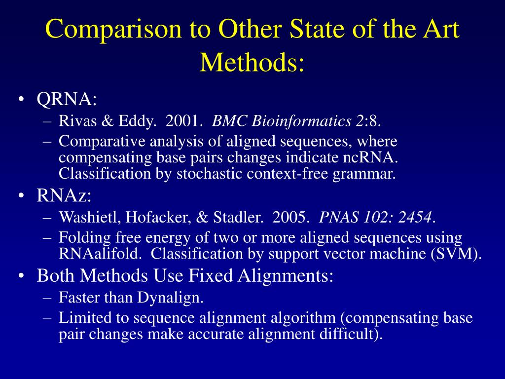 Comparison to Other State of the Art Methods: