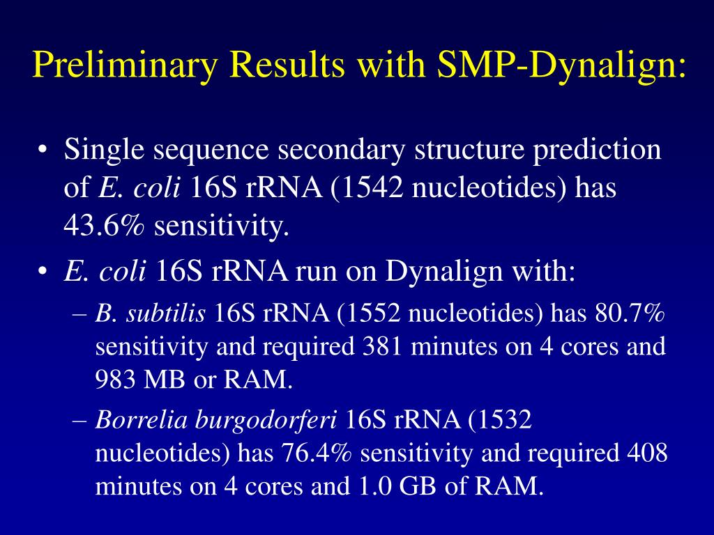 Preliminary Results with SMP-Dynalign: