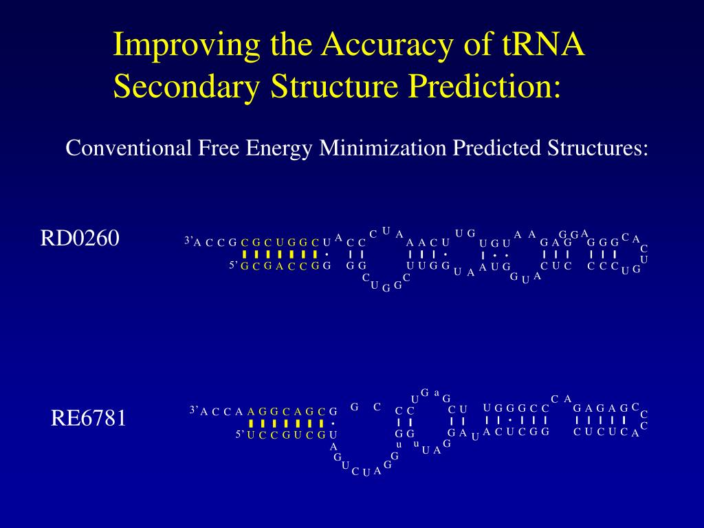 Improving the Accuracy of tRNA
