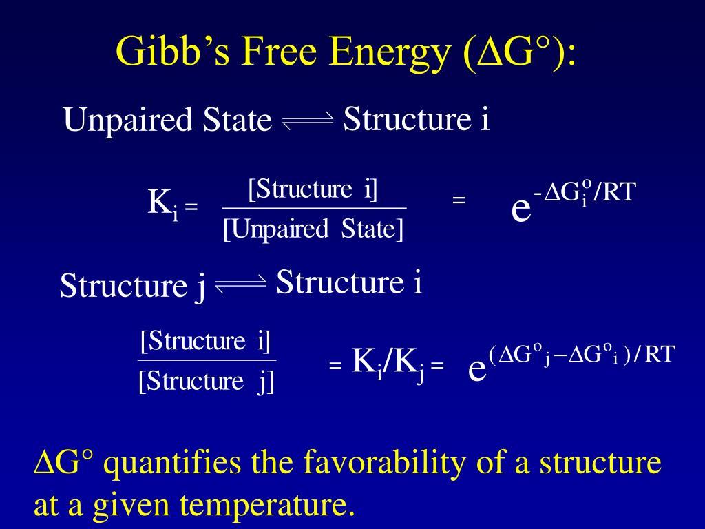 Gibb's Free Energy (