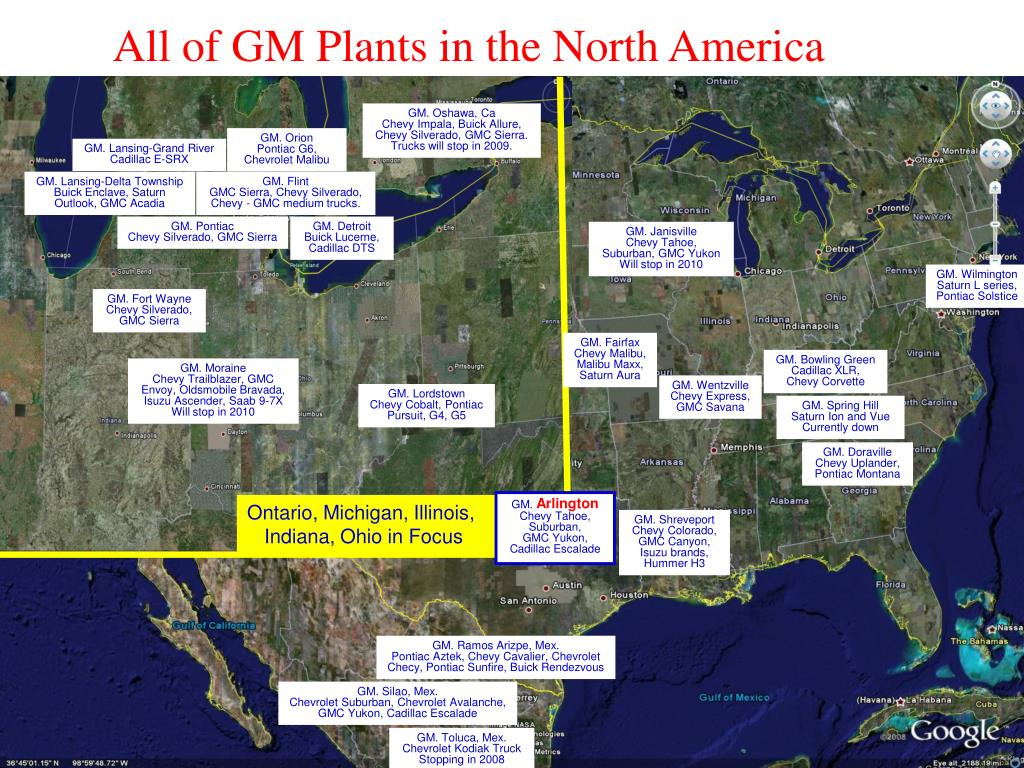 All of GM Plants in the North America