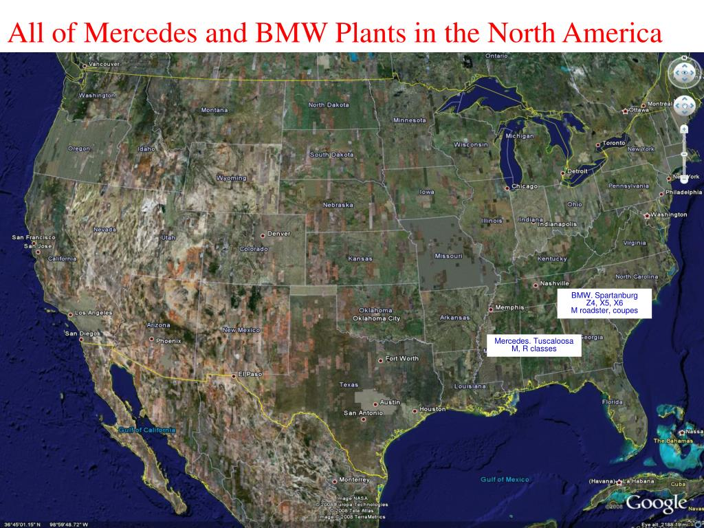 All of Mercedes and BMW Plants in the North America