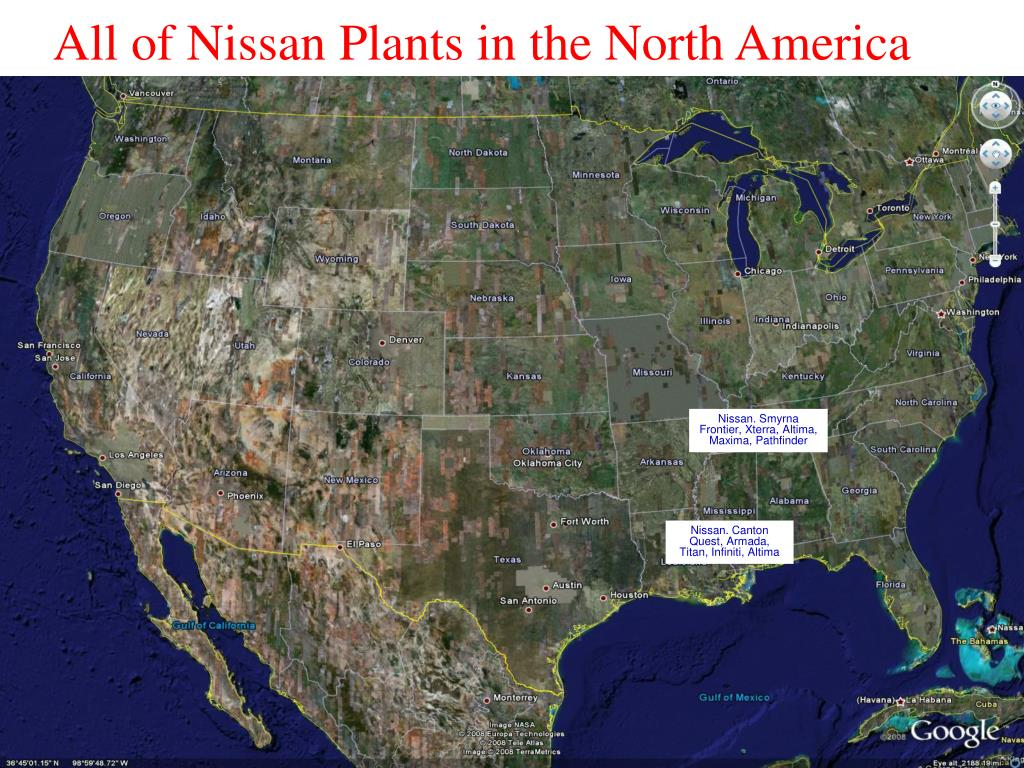 All of Nissan Plants in the North America
