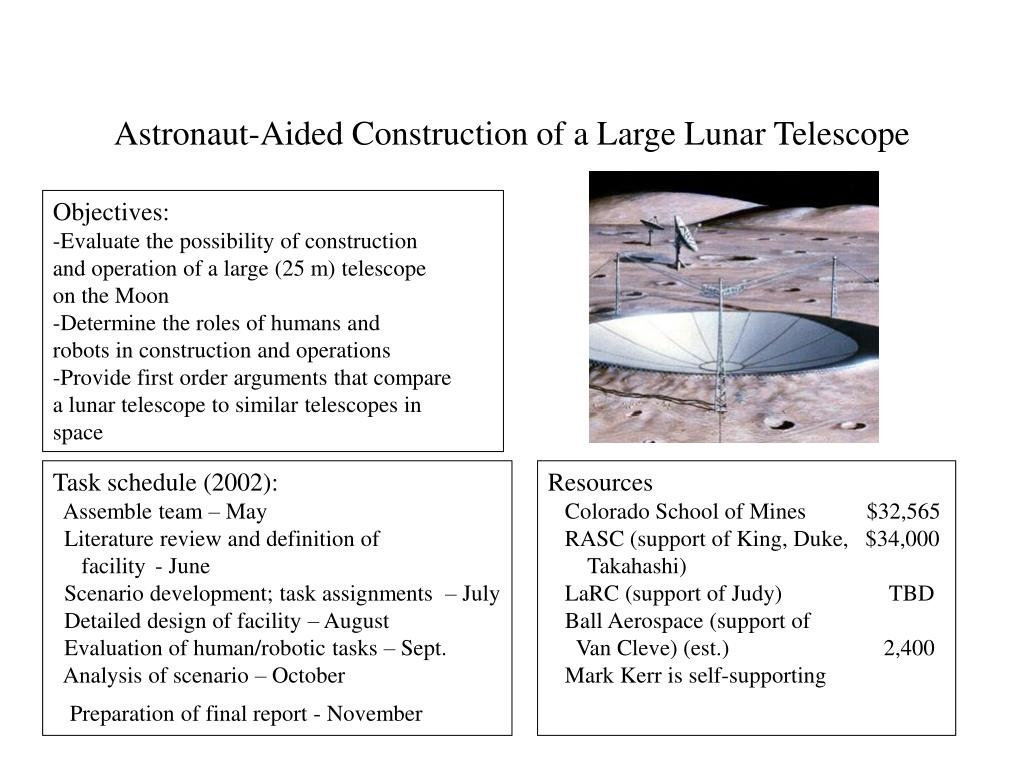 Astronaut-Aided Construction of a Large Lunar Telescope
