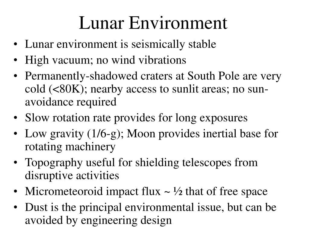 Lunar Environment