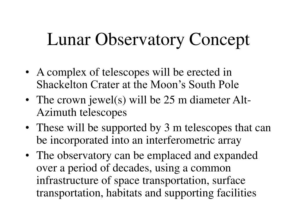 Lunar Observatory Concept