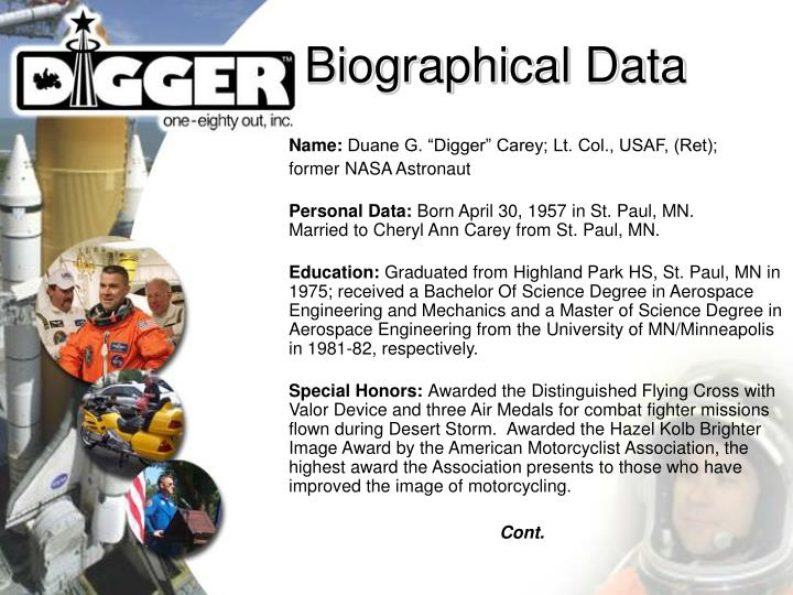 Biographical data
