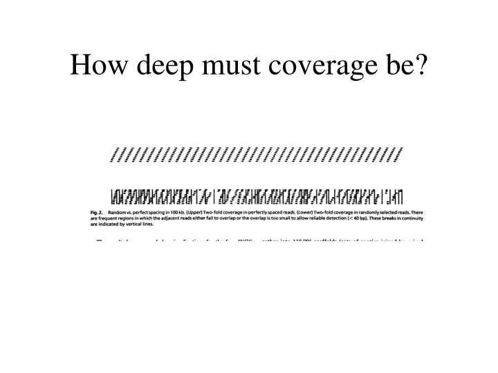 How deep must coverage be?