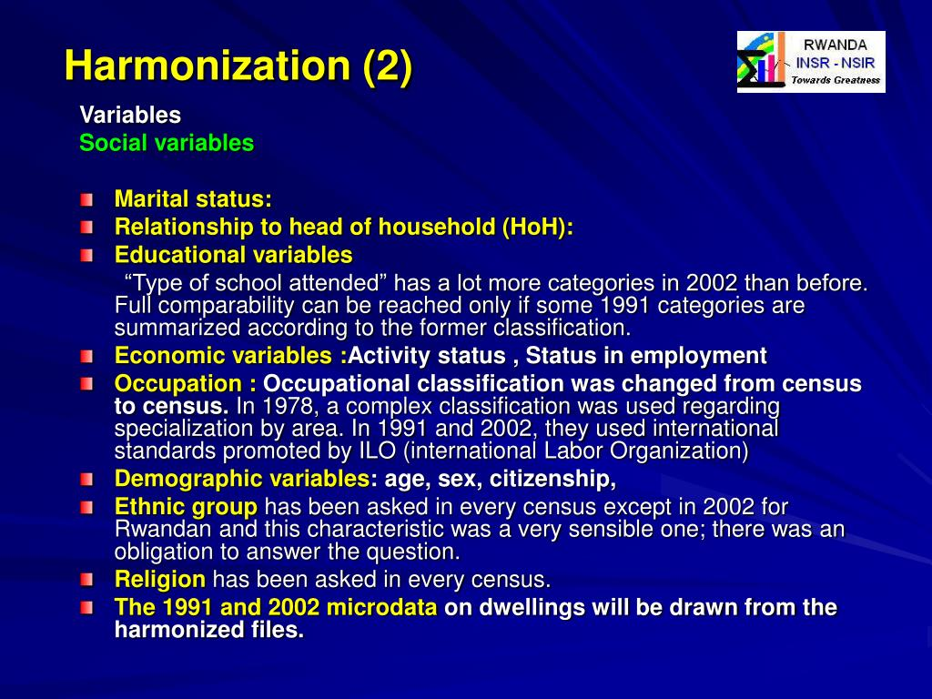 Harmonization (2)