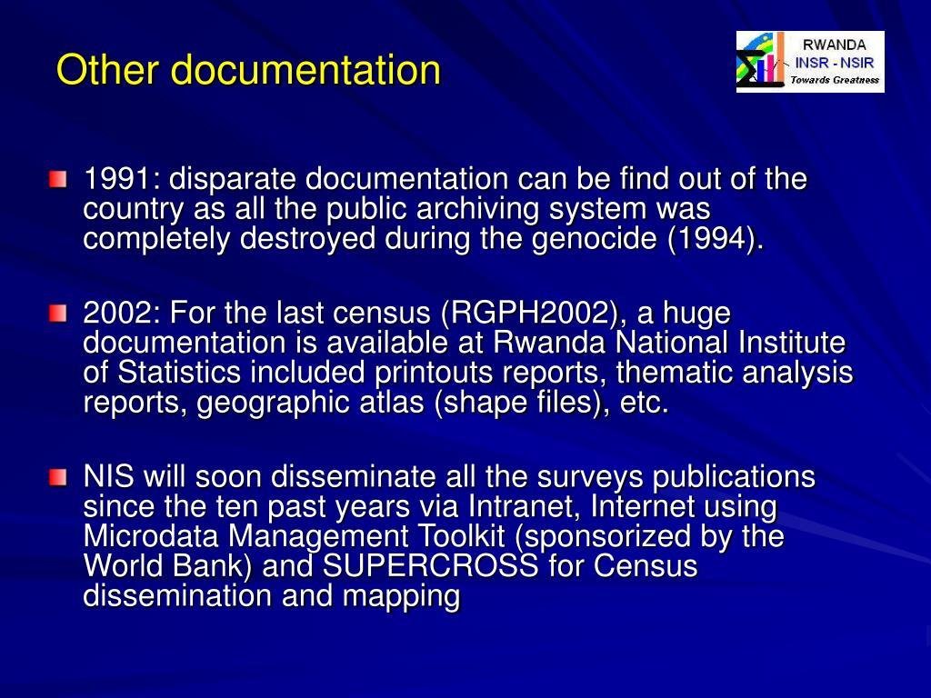 Other documentation