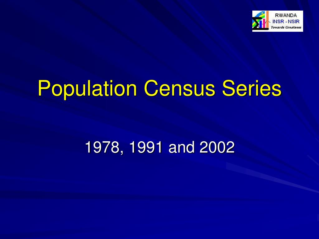 Population Census Series