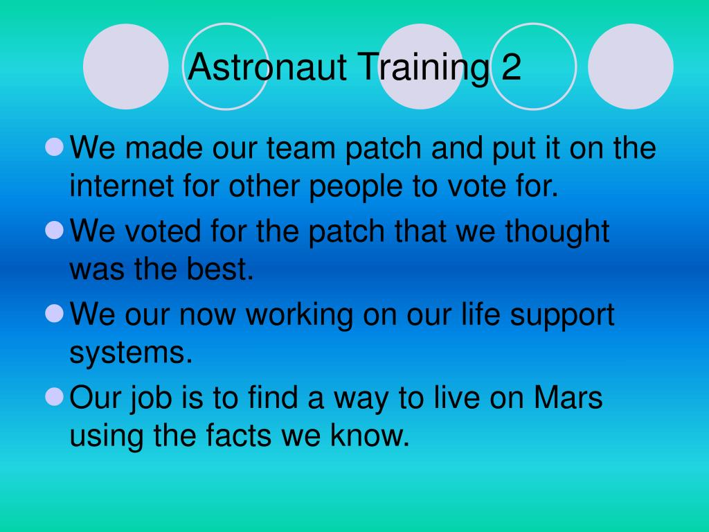 Astronaut Training 2