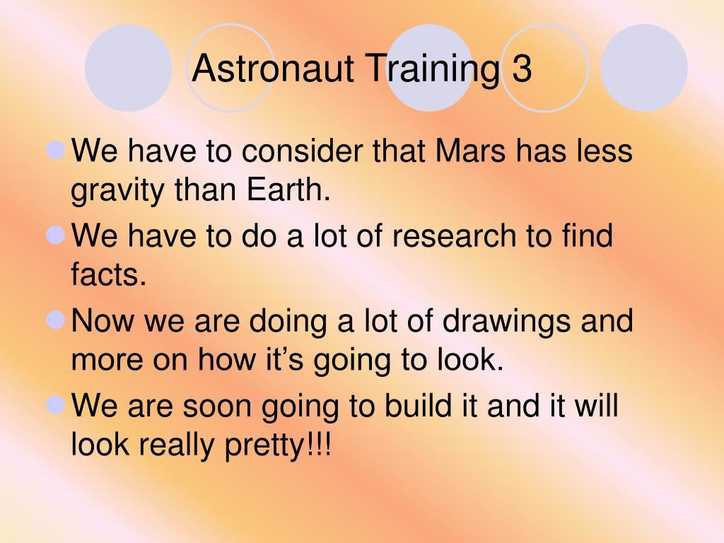 Astronaut Training 3