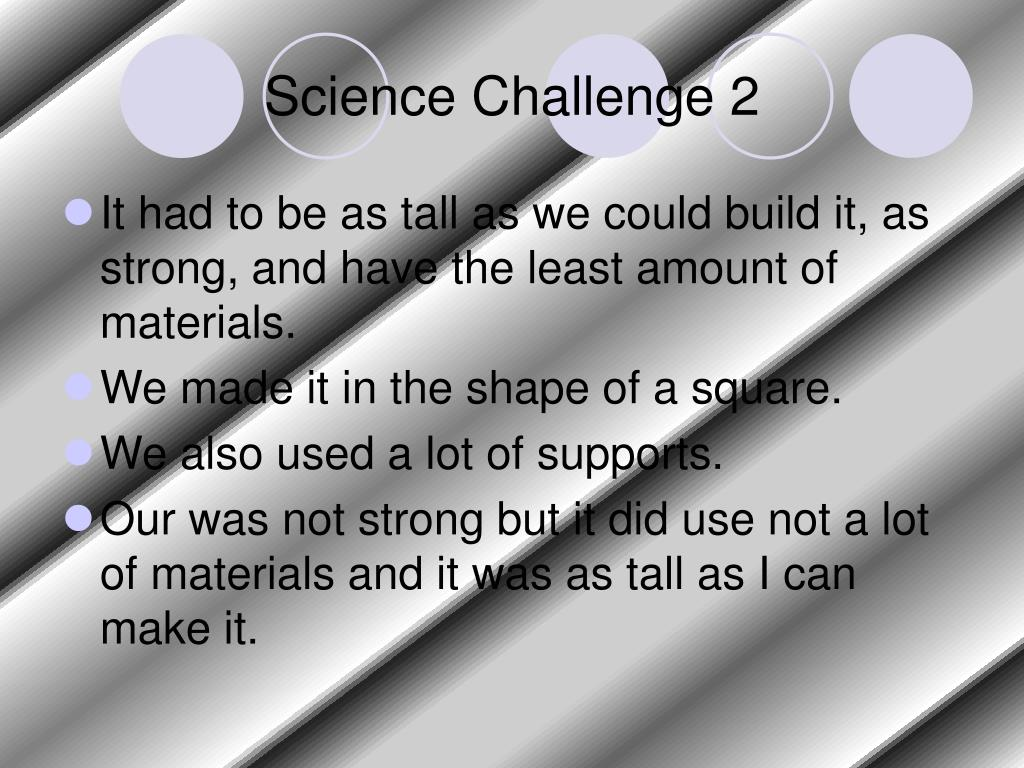 Science Challenge 2
