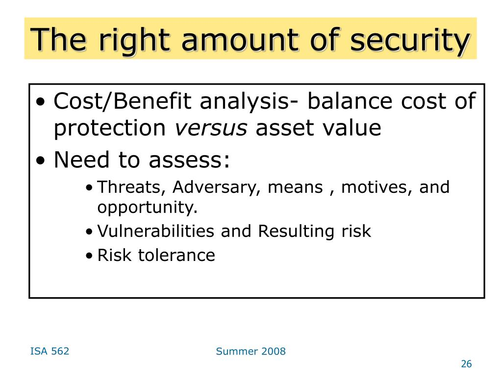 The right amount of security
