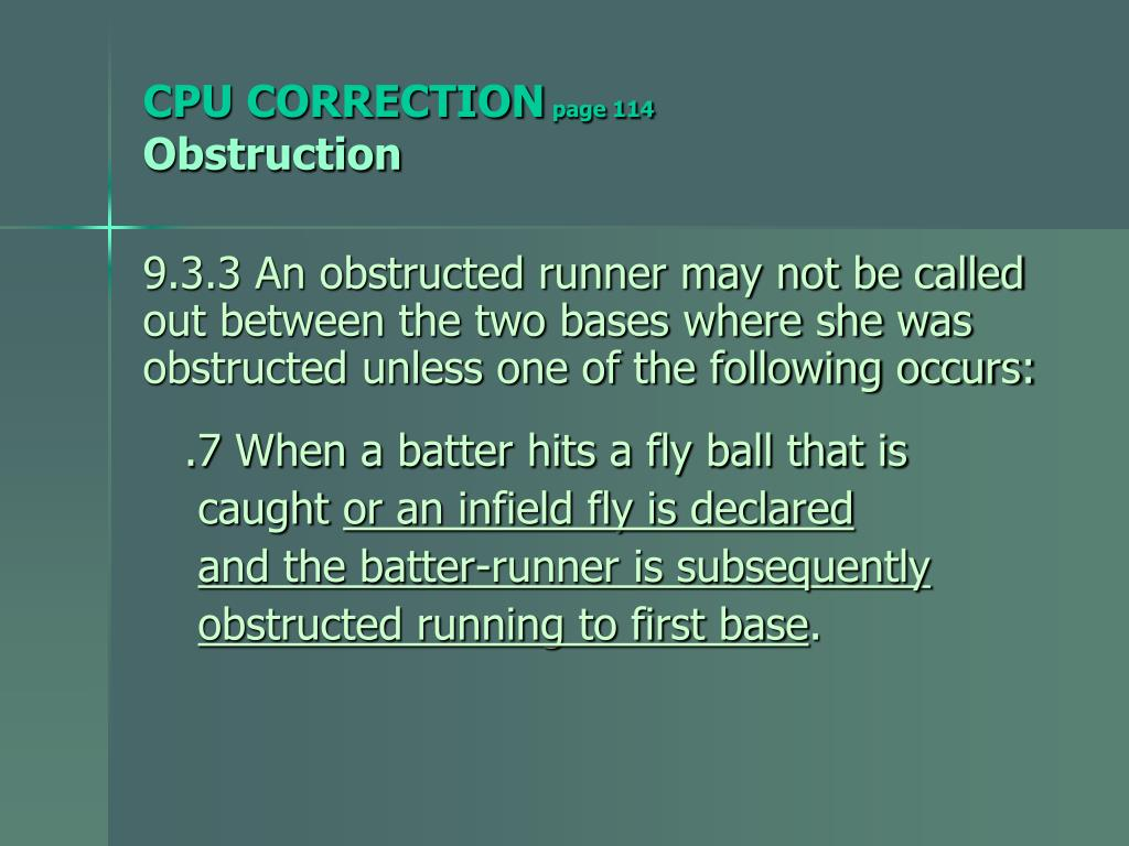 CPU CORRECTION