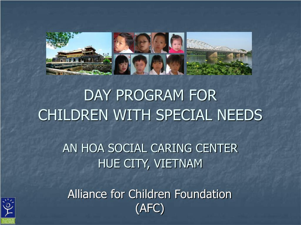 PPT - DAY PROGRAM FOR CHILDREN WITH SPECIAL NEEDS AN HOA ...