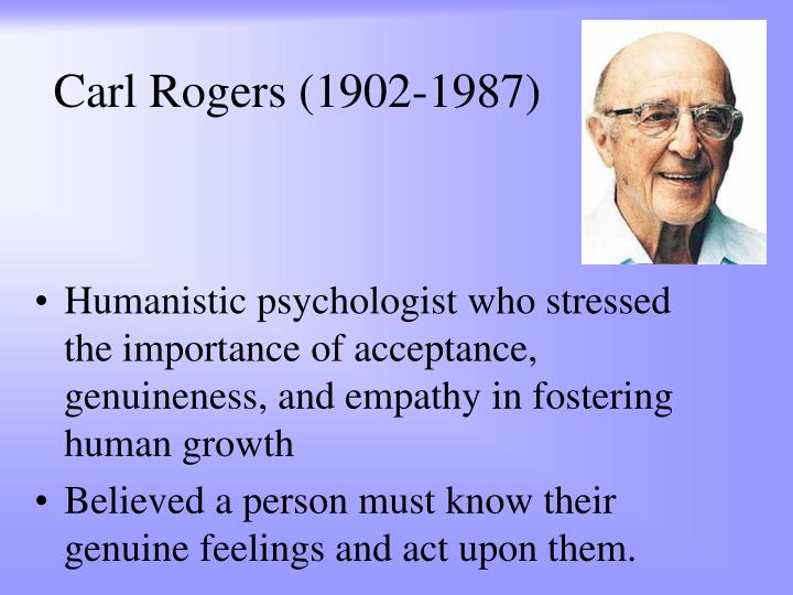 a description of the humanistic approach in the books of carl rogers The late carl rogers, founder of the humanistic psychology movement,  this is  the third theory book that i have read (skinner, jung) and rogers is the most.