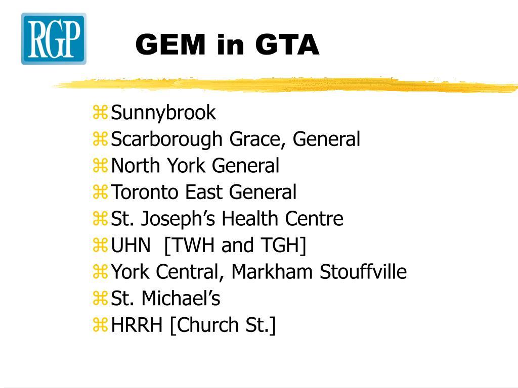 GEM in GTA