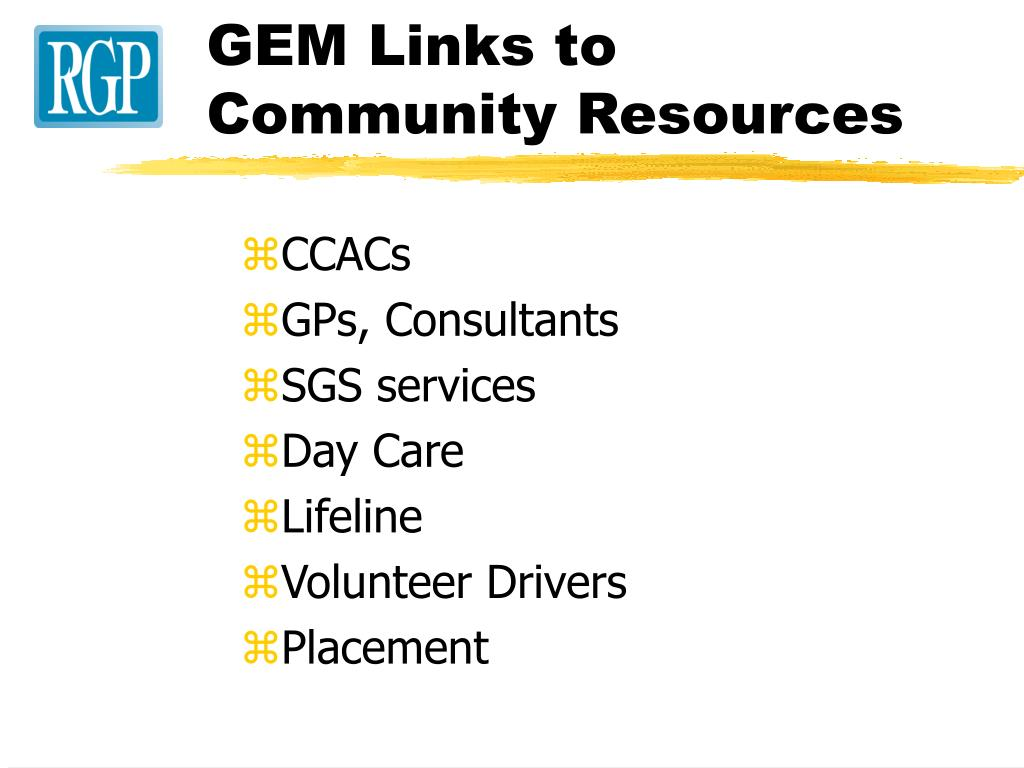 GEM Links to Community Resources