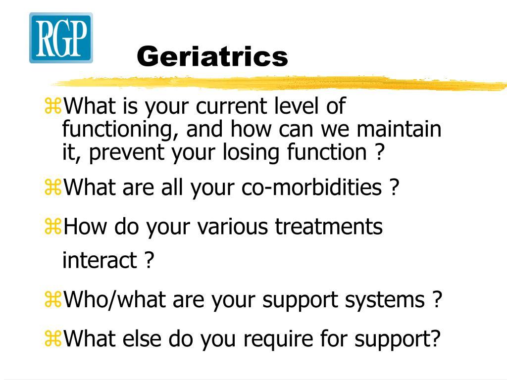 Geriatrics