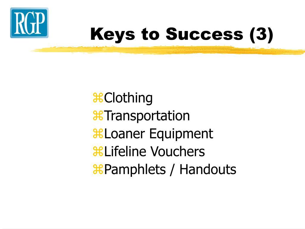 Keys to Success (3)