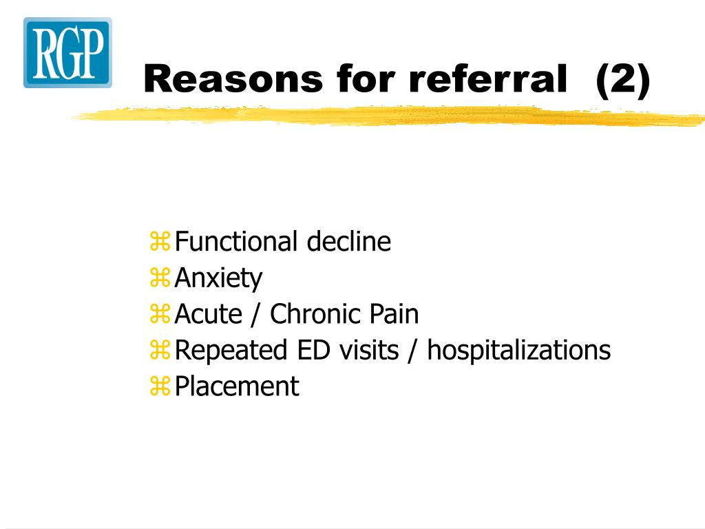 Reasons for referral  (2)