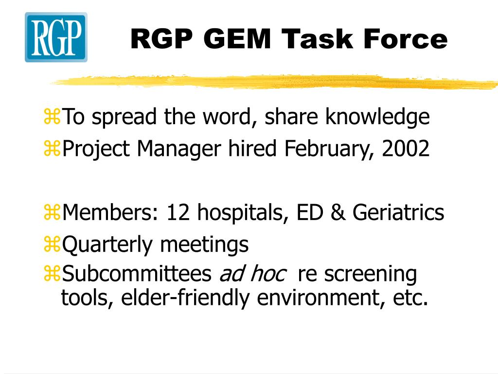 RGP GEM Task Force