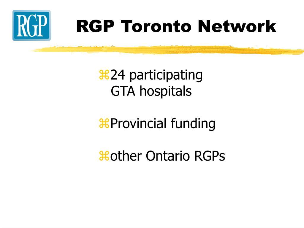RGP Toronto Network