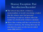 hearsay exception past recollection recorded