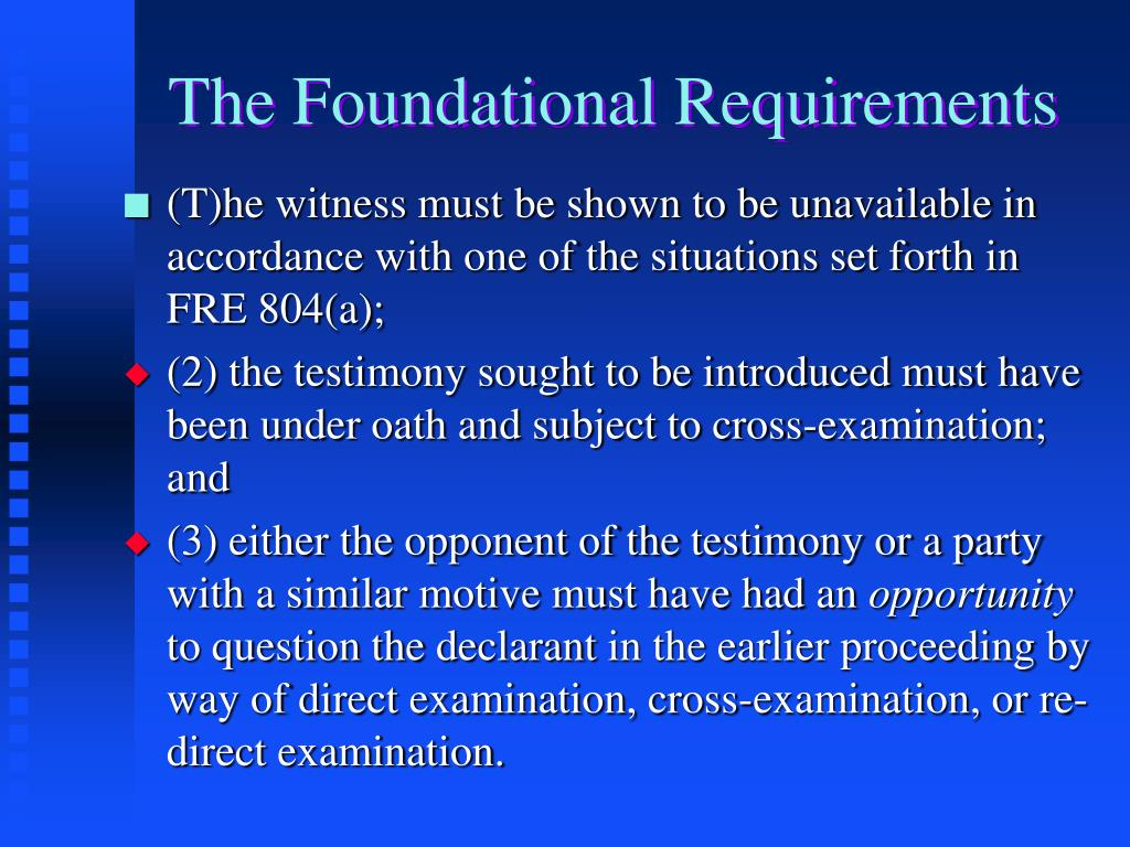 The Foundational Requirements