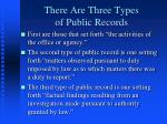 there are three types of public records