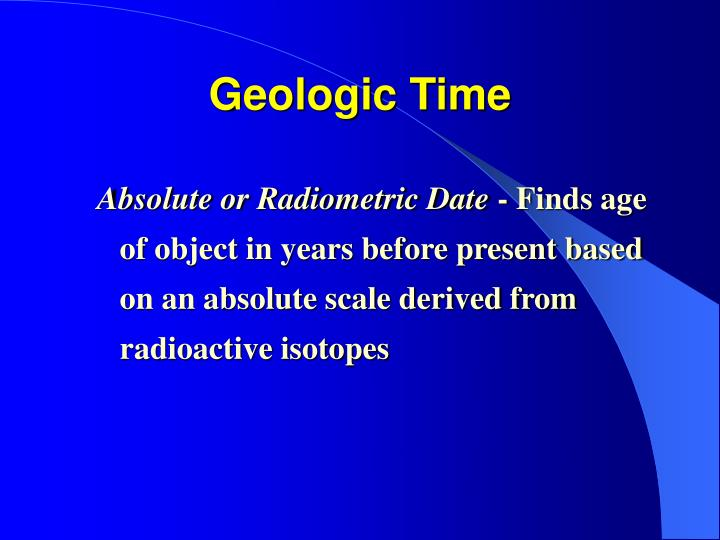 isotopes used in dating old objects Radioactive dating radioactive isotopes are useful for establishing the ages of various objects the half-life of radioactive isotopes is unaffected by any environmental factors, so the isotope acts like an internal clock.