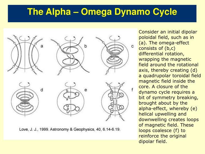 The Alpha – Omega Dynamo Cycle
