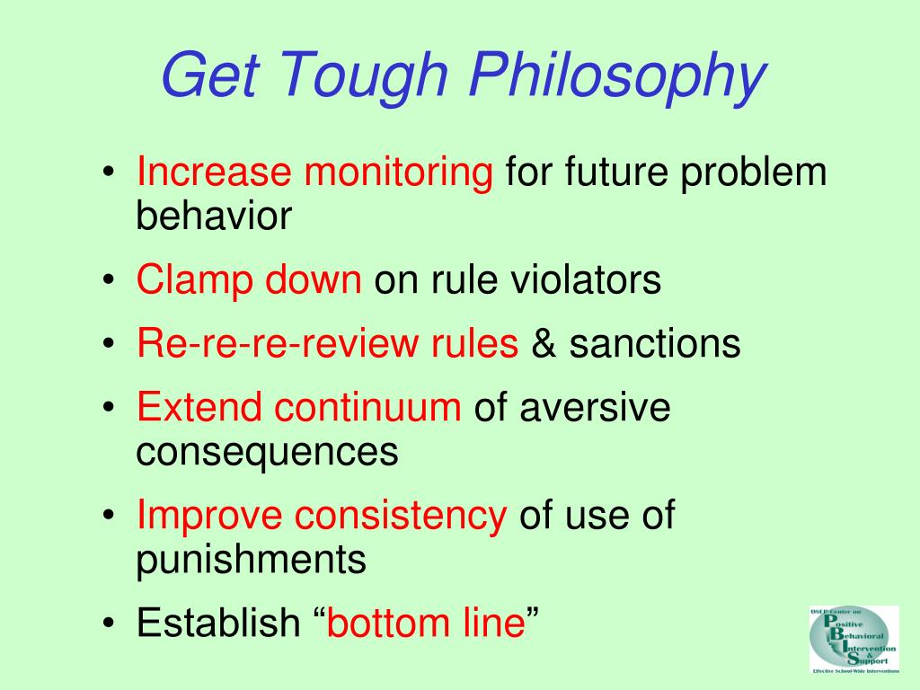 Get Tough Philosophy