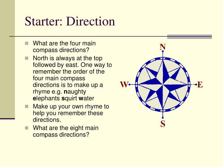 Starter: Direction