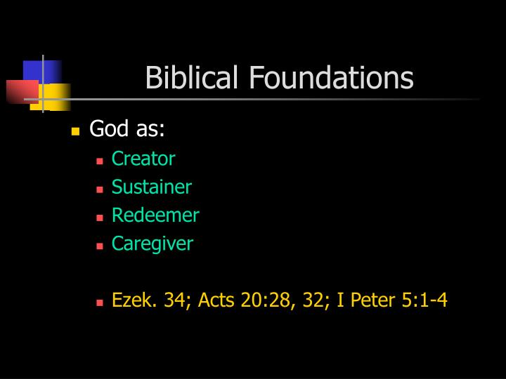 Biblical Foundations