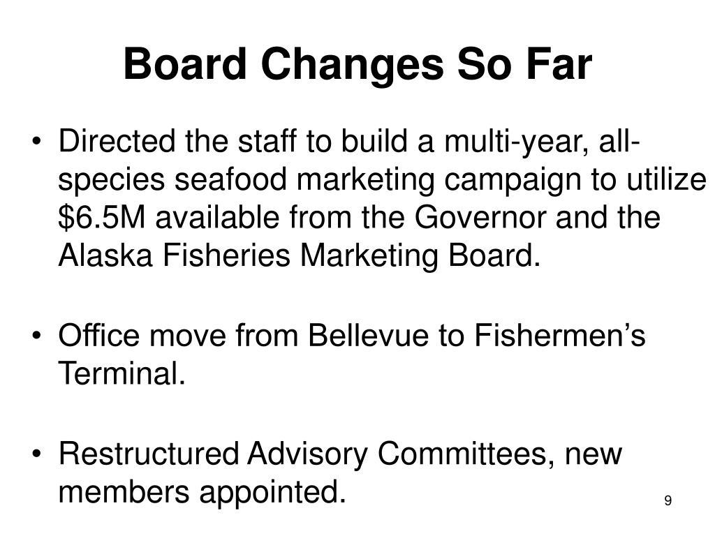 Board Changes So Far