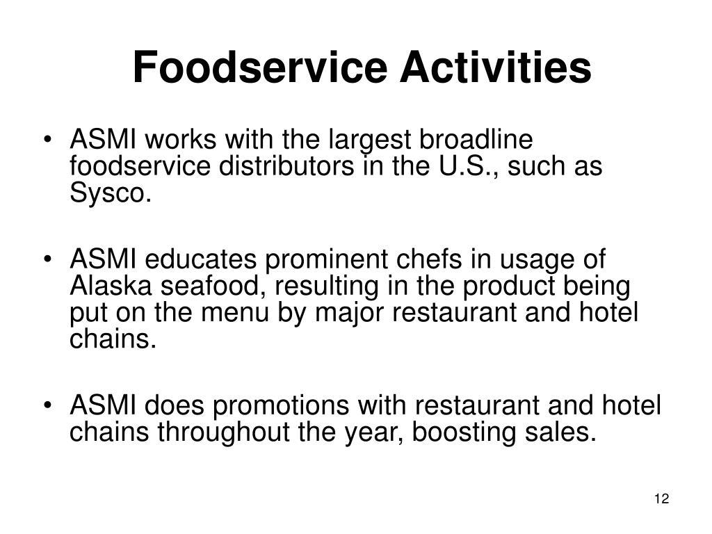 Foodservice Activities