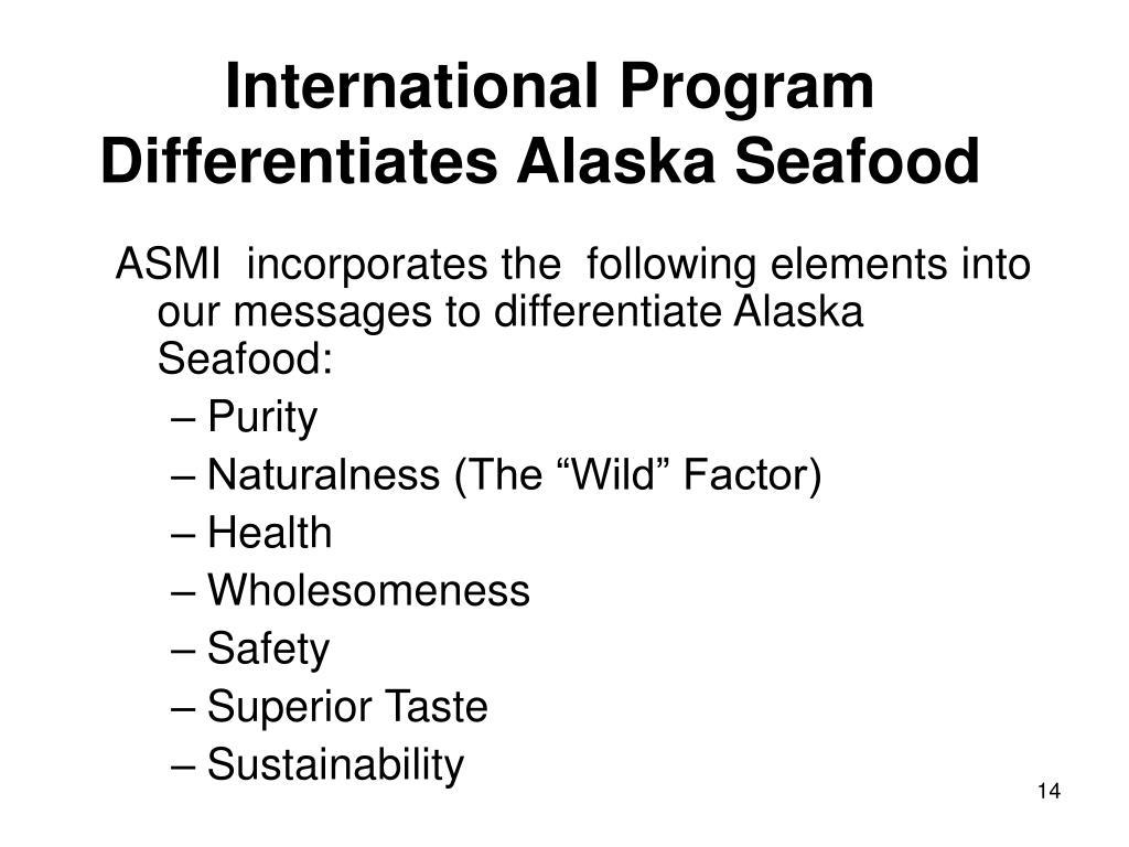 International Program Differentiates Alaska Seafood