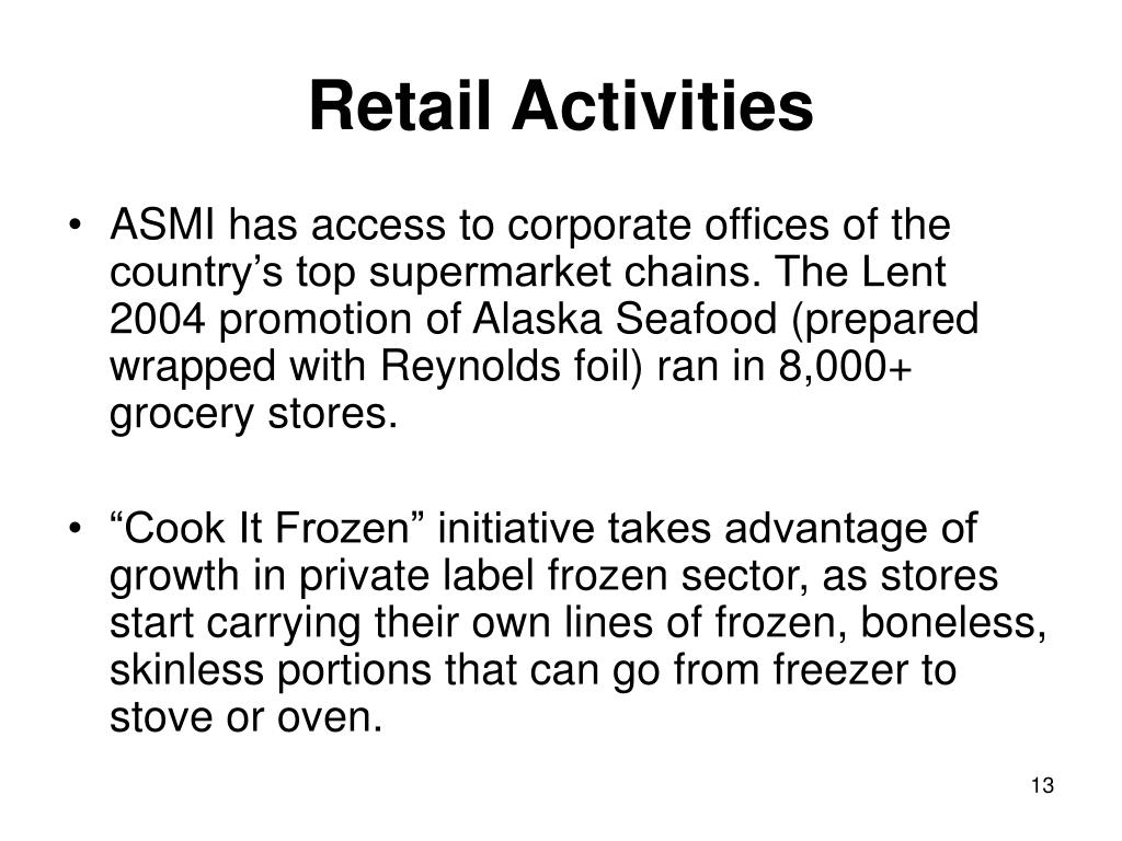 Retail Activities