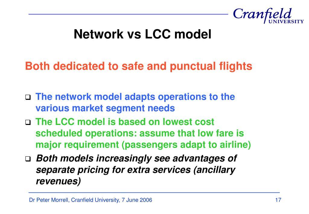 Network vs LCC model