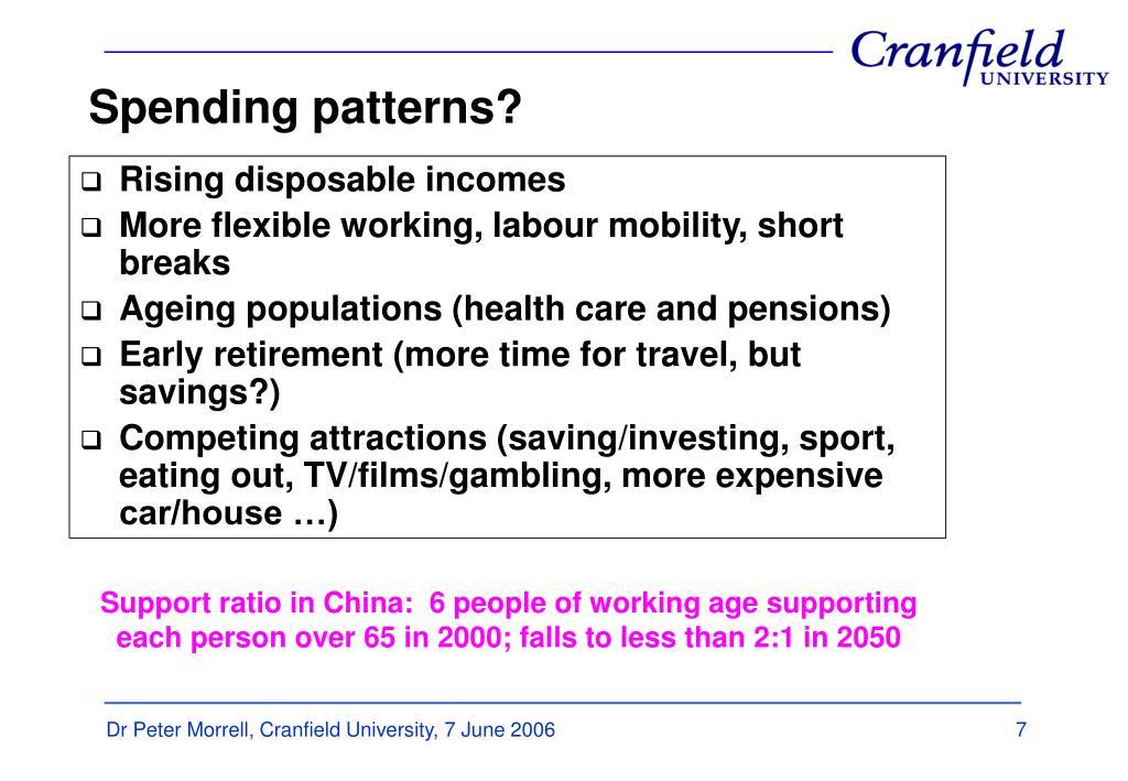 Spending patterns?
