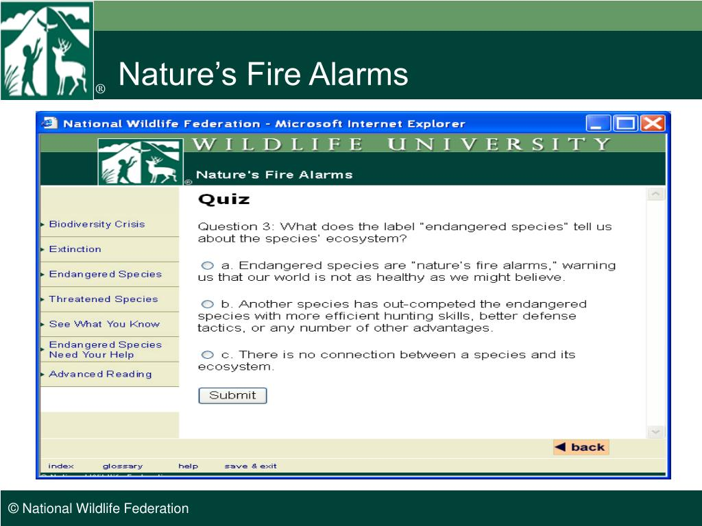 Nature's Fire Alarms