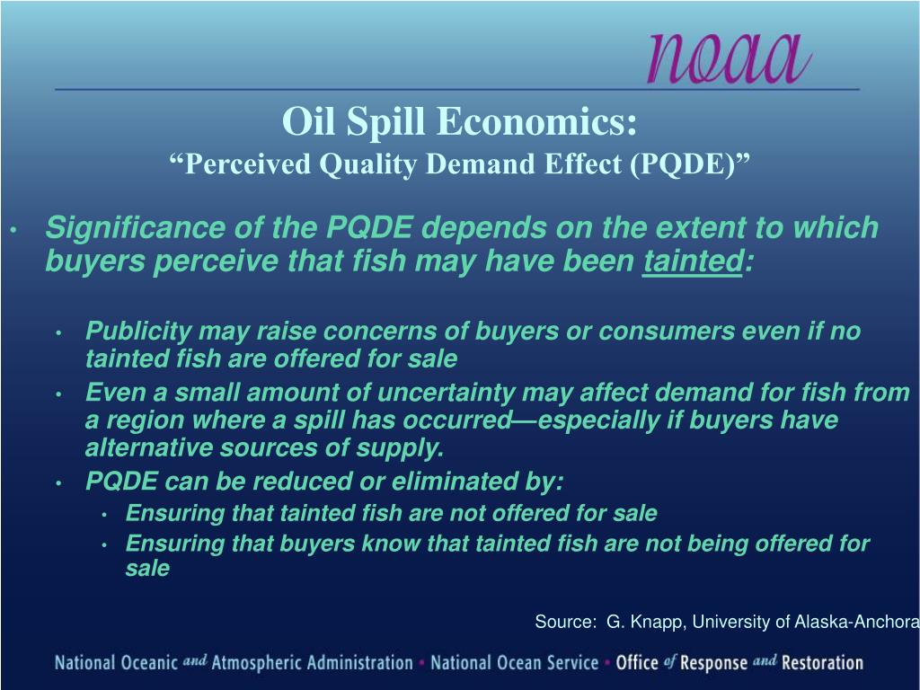 Oil Spill Economics:
