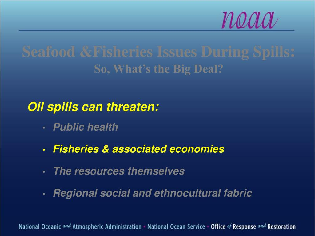 Seafood &Fisheries Issues During Spills