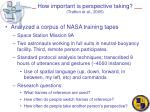 how important is perspective taking trafton et al 2005