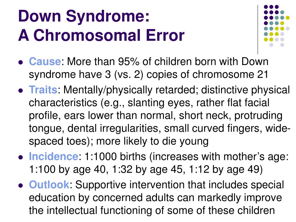 Down Syndrome: